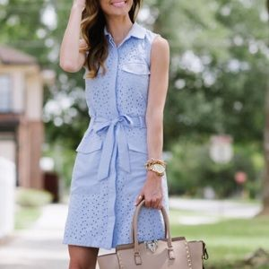 Cynthia Steffe CeCe Seeesucker Button Down Dress